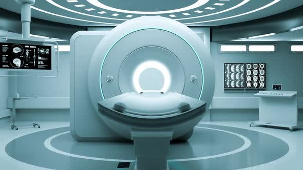 Thumbnail for Zooming into magnetic resonance imaging (MRI) machine