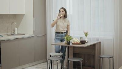 Woman Preparing Dinner at Home
