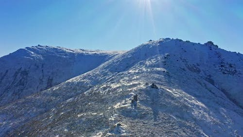 Wonderful Landscapes of the Carpathian Mountains Covered with the First Snow in Ukraine Near