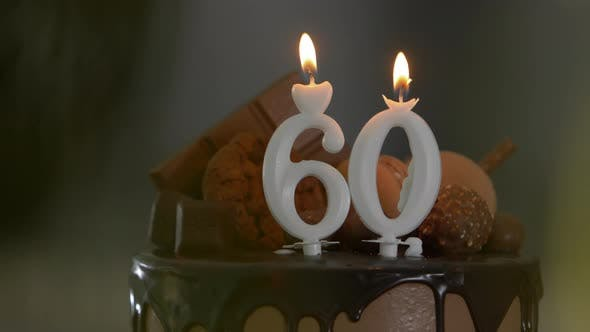 Thumbnail for 60th Birthday Cake and Candles