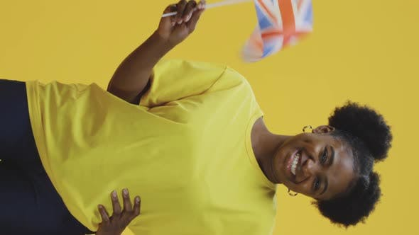 Thumbnail for Woman Waving British Flag