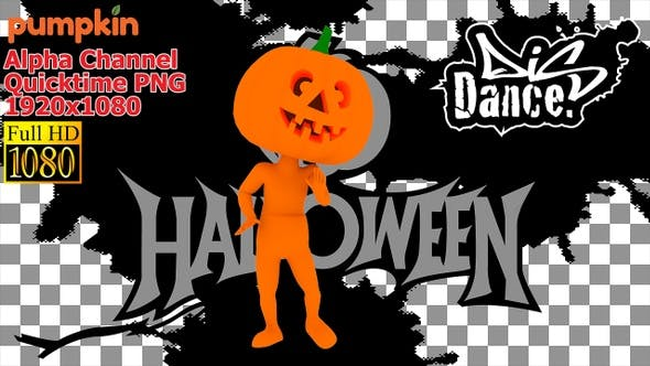 Thumbnail for 3d Zombie Dance Pumpkin