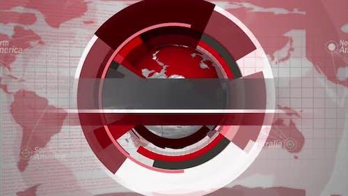 Digital World Map News Intro Background