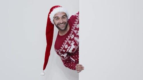 Guy In Santa Hat