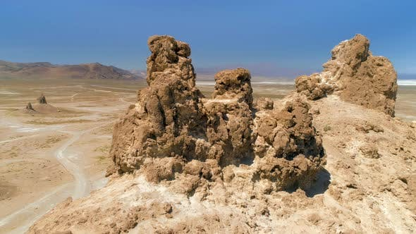 Thumbnail for Massive Toothy Tufa Ruins Against Blue Sky