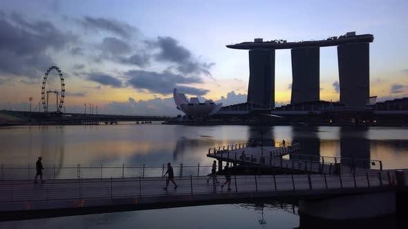 Singapore Skyline - Marina Bay - 4K Time Lapse
