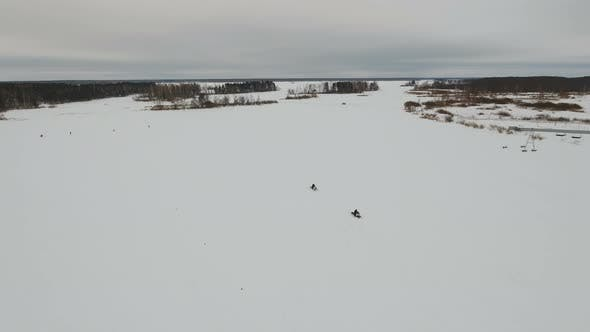 Thumbnail for Racing on a Snowmobile