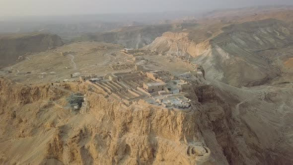 Thumbnail for Top View, Part of Masada Remains and Fortress