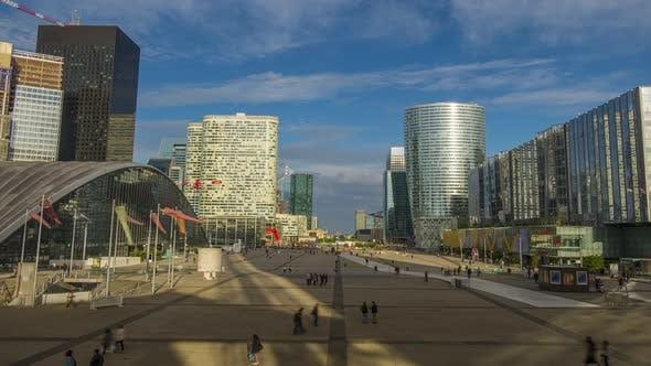 Thumbnail for Large Pedestrian Square in Parisian District of La Defense