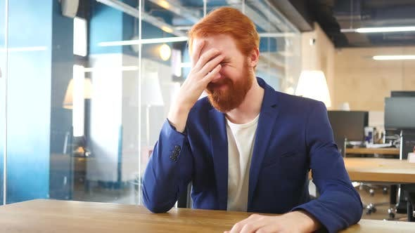 Thumbnail for Upset Man in Office after Failure, Red Hairs