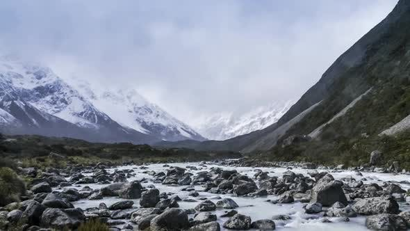 Thumbnail for New Zealand glacial river timelapse