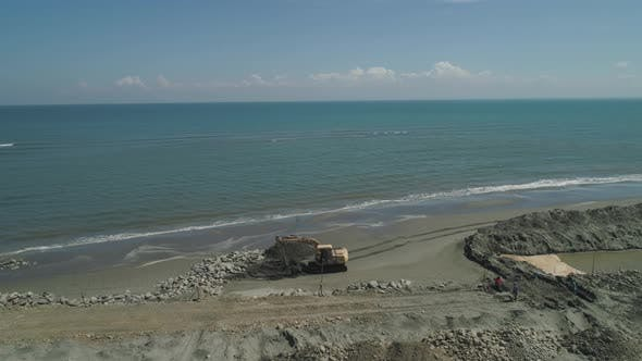 Thumbnail for Construction of Protection Against Waves on the Beach