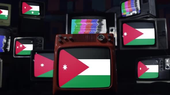 Thumbnail for Jordan flags and retro Televisions.