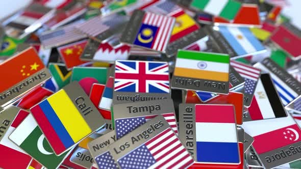 Thumbnail for Souvenir Magnet with Kuala Lumpur Text and Flag