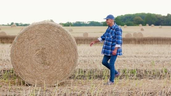 Thumbnail for Agriculture Farmer Examining Field Modern Farming