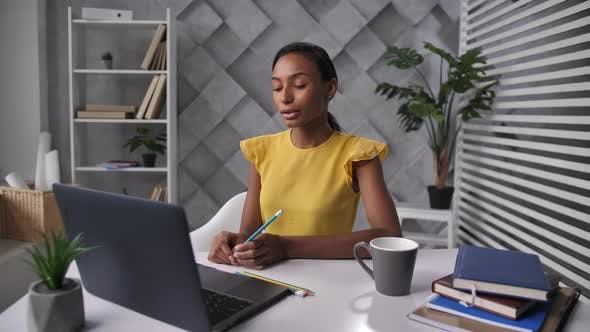 Thumbnail for Young Businesswoman During Online Meeting