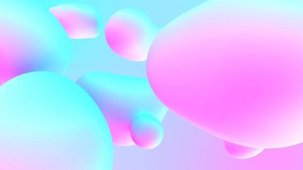 Colorful Stylish Liquid Bubbles Shapes