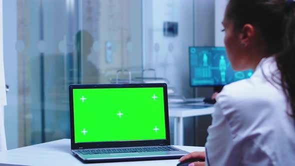 Chroma Key on Laptop in Medical Clinic