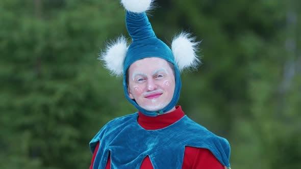 Thumbnail for Christmas elf smiling