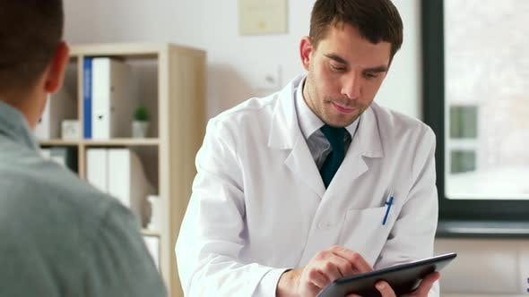 Thumbnail for Doctor with Tablet Pc and Male Patient at Hospital 16