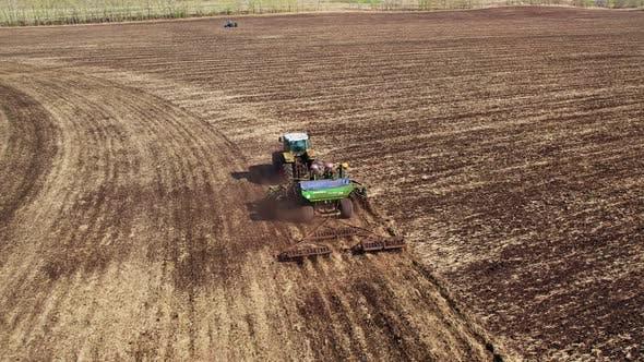 Spring agricultural work.