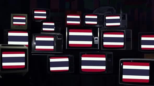 Thumbnail for Thailand Flags on Retro TVs.
