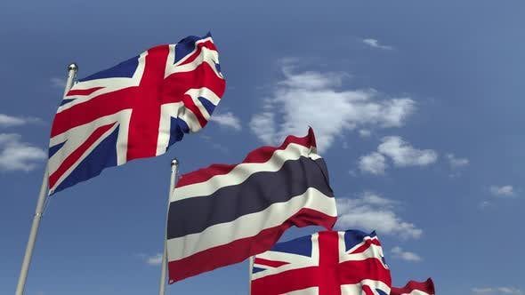 Flags of Thailand and the United Kingdom