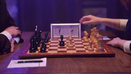 Chess Board Queen Gambit