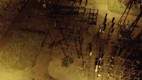 Thumbnail for Electric Distribution Station Night Aerial View