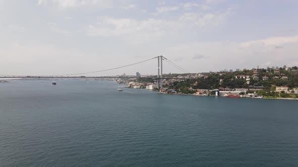 Aerial View Bosphorus Istanbul Bridge