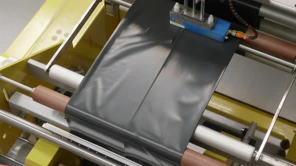 Machine Producing Plastic Bags and Trash Bags