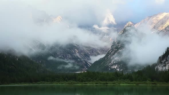 Thumbnail for Morning Clouds over the Rocky Mountains