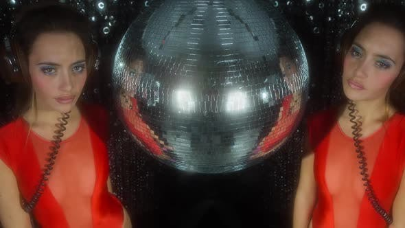 Thumbnail for Disco woman fashion discoball glitterball party music