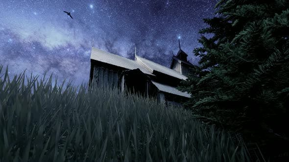 Thumbnail for Wooden Chalet and Night Milky Way View