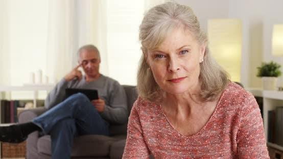 Thumbnail for Beautiful mature woman looking at camera