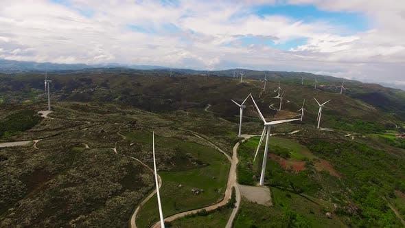Thumbnail for Windkraftanlage aus der Luft