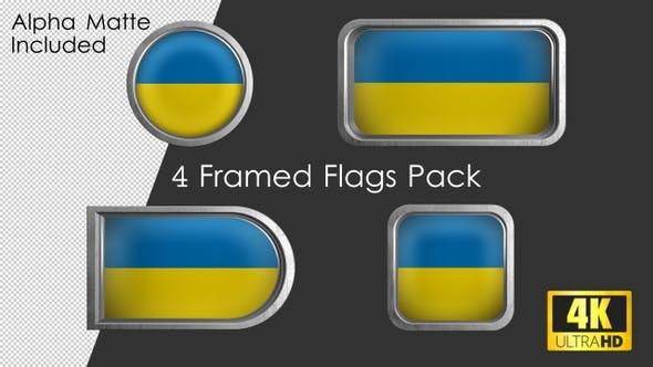 Thumbnail for Framed Ukraine Flag Pack