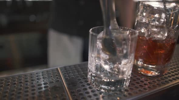 Thumbnail for Small Glass Standing on Bar Counter