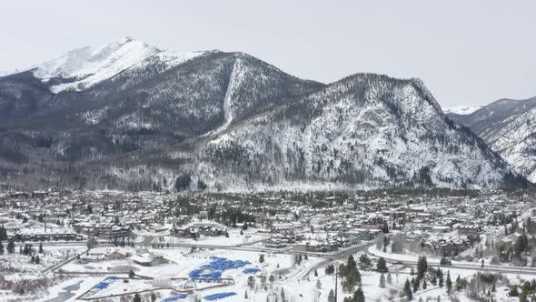 Thumbnail for Frisco Colorado Snowy Day Aerial Birds Eye View