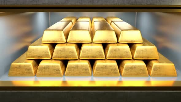 Thumbnail for Safety Deposit Box Opened with Gold Bars Inside