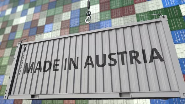 Thumbnail for Loading Container with MADE IN AUSTRIA Caption