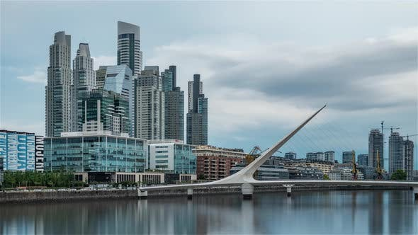 Thumbnail for The Financial District of Buenos Aires called Puerto Madero during a stormy day