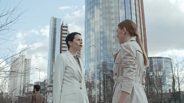 Thumbnail for Businesswomen Meeting on the Street