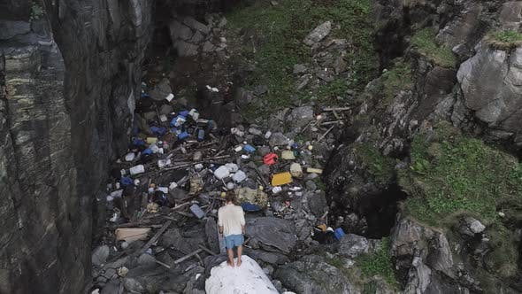 Thumbnail for Aerial Shot of Plastic Garbage