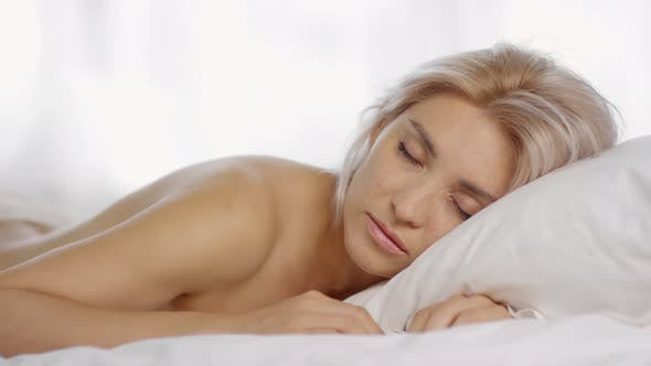 Thumbnail for Young Woman in Lacy Panties Sleeping on Bed