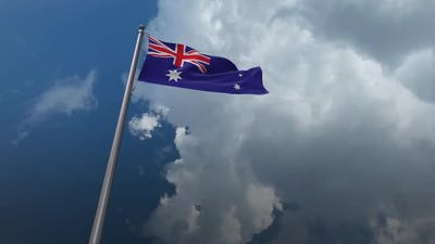 Australia Flag Waving -  2K