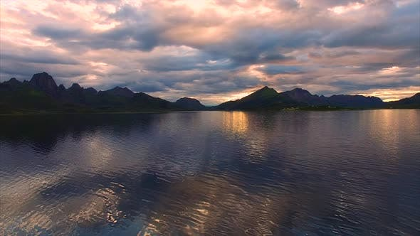 Thumbnail for Calm waters of fjord on Vesteralen in Norway
