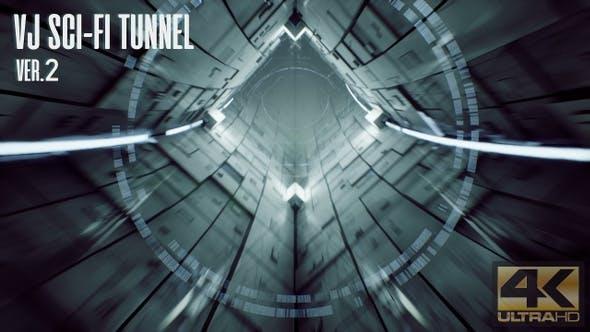 Thumbnail for VJ Sci-Fi Tunnel Ver.2
