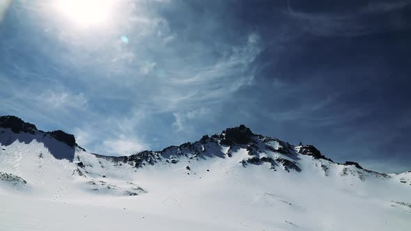 Cover Image for Mountain Peak in Snow