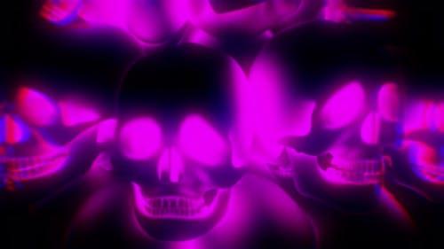 Rosa leuchtende Gelee Totenköpfe